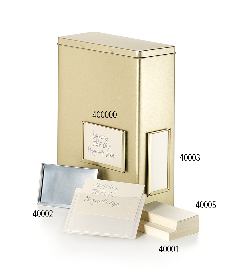 40002 Marcos de etiquetas, cromado 10 X 6,5 cm / Embalajes diversos ...